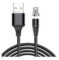 Кабель Магнитный Fabric Magnetic USB to Lightning 1m (black)