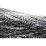 Анальная пробка с темно-серым хвостом, фото 3