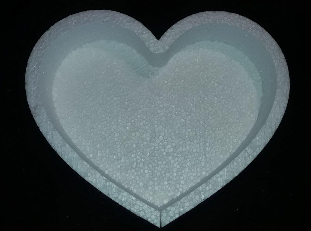 Пенобокс- фигурная коробка для цветов и подарков -  Сердце