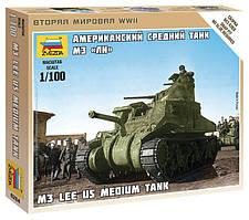 Американский танк M3 Lee. Сборная модель, сборка без клея. 1/100 ZVEZDA 6264