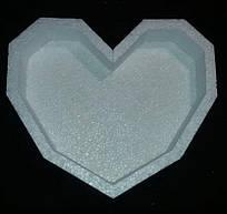 Пiнобокс - фігурна  коробка для квітів і подарунків - Серце грані