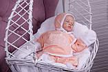 """Набор для новорожденных """"Queen"""", персиковый, 3-х предметный, фото 2"""