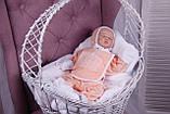 """Набор для новорожденных """"Queen"""", персиковый, 3-х предметный, фото 3"""