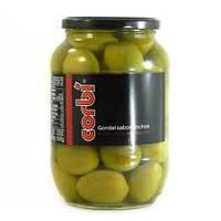 Оливки зеленые супер-гиганты Corbi с косточкой 835/500 г   Испания