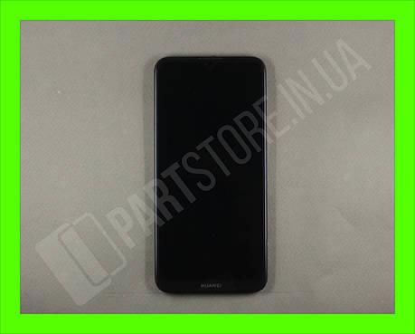 Дисплей Huawei Y7 2019 Black (02352KCV) сервисный оригинал в сборе с рамкой, акб и датчиками, фото 2