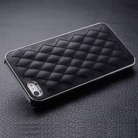 Стильный кожаный чехол для iPhone 5/ 5S черный цвет