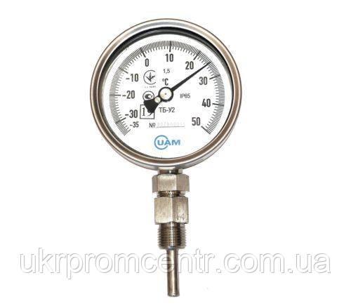 Термометр биметаллический ТБ-У2 ду 63,80