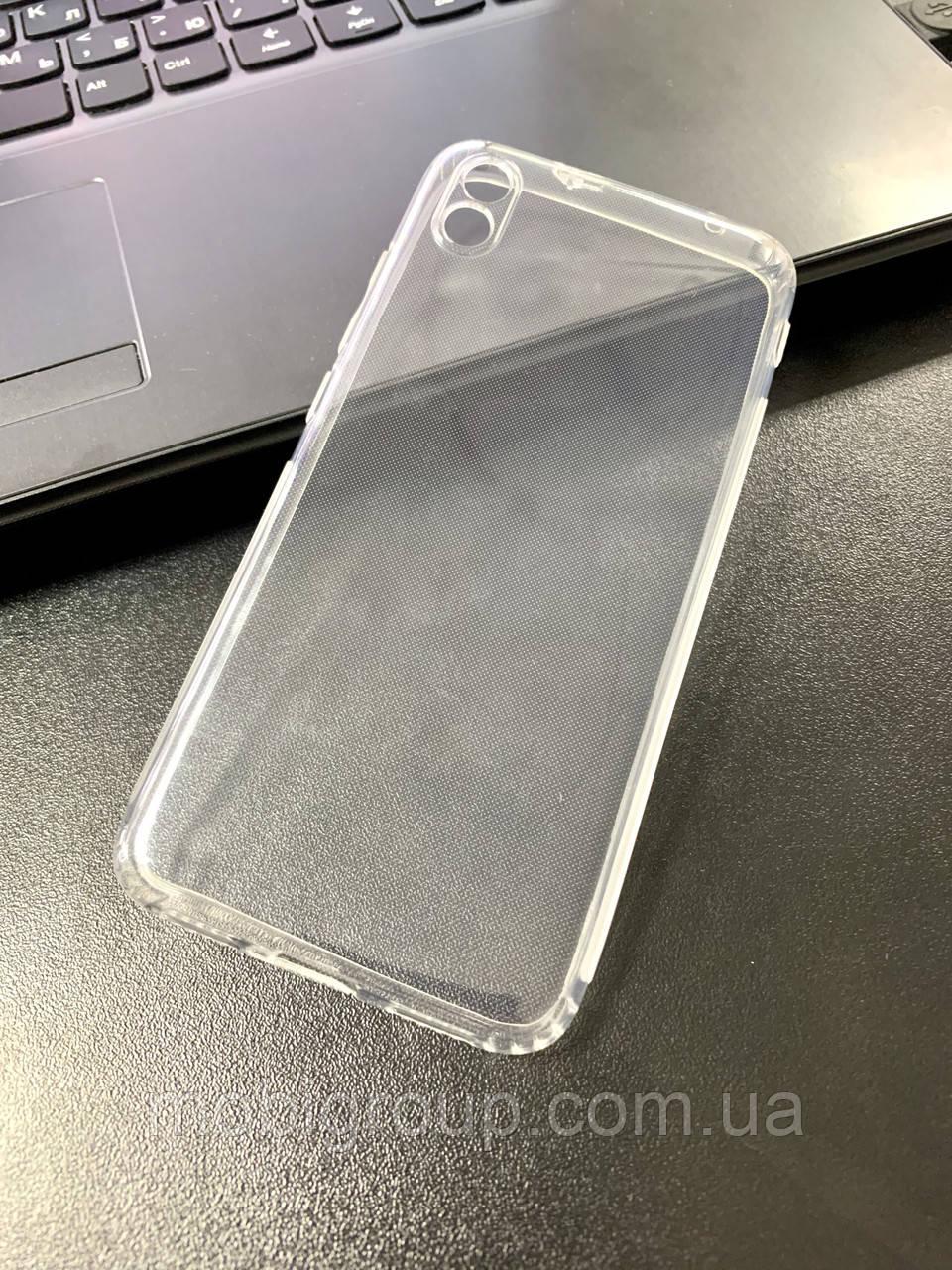 Чехол для Xiaomi Redmi 7A силиконовый прозрачный (с заглушками)