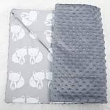 """Детский плед для новорожденных и детей до 3 лет, конверт - одеяло плед на выписку """"Слоники"""", 80*100см, фото 3"""