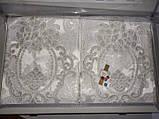 Покрывало с наволочками Kubra Class полиэстер Евро макси  240 х 260 Marie белый, фото 3