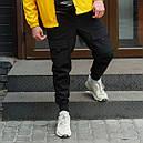Карго штаны мужские черные, фото 2
