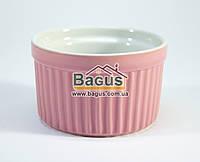 Посудина (жульенница) керамічна 130мл РОЖЕВИЙ Stenson 10264-1, фото 1