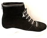 Ботинки женские черные демисезонные замшевые на платформе от производителя модель ЛИ5007, фото 3