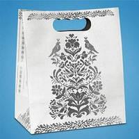 Пакет для свадебного каравая с серебряным узором