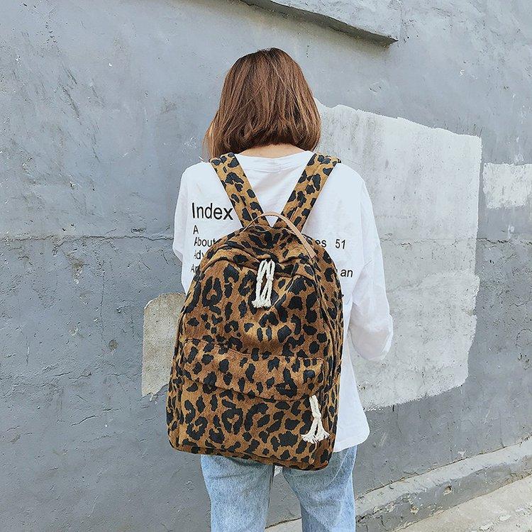 Рюкзак леопардовий принт