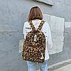 Рюкзак леопардовый принт, фото 3