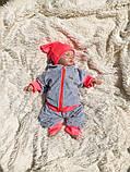 Детский спортивный костюм Favorite малиновый/неоновый, фото 6