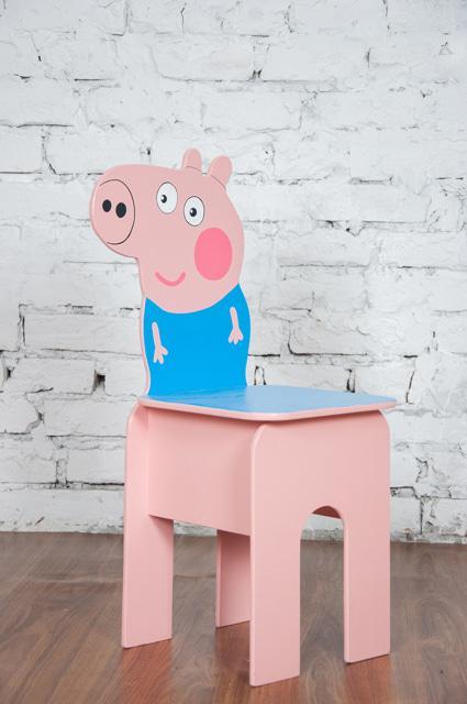 """Стілець дитячий """"Свинка Джордж"""". АКЦІЯ -25% до 03.04.20"""