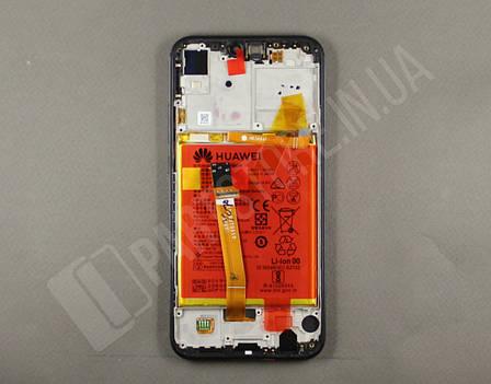 Дисплей Huawei P20 Lite Black (02351XTY) сервисный оригинал в сборе с рамкой, акб и датчиками, фото 2