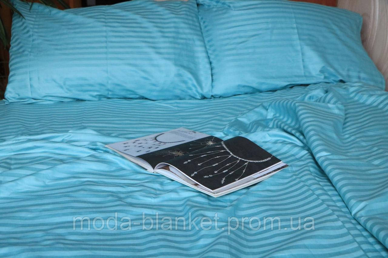 Комплект постельного белья (САТИН-СТРАЙП, 100% хлопок) евро размер