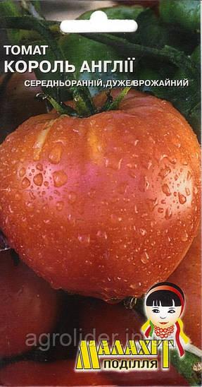 Семена томат Король Англии 0.1г Красный (Малахiт Подiлля)