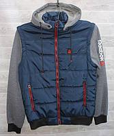 """Куртка мужская демисезонная REBOK, отстегной рукав, размеры 48-56 """"RETRO"""" недорого от прямого поставщика, фото 1"""