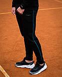 Чоловічий спортивний теплий костюм Baterson Leader теплий з капюшоном на флісі чорний. Живе фото, фото 8