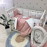 """Комплект в кроватку из серии ART Design """" Лебеди"""""""