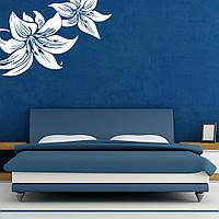 Цветочный мотив, трафарет на стену в гостиную 140 х 95 см