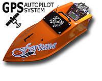 Кораблик для завоза прикормки Фортуна на 15000 мАч с GPS-автопилотом Желтый