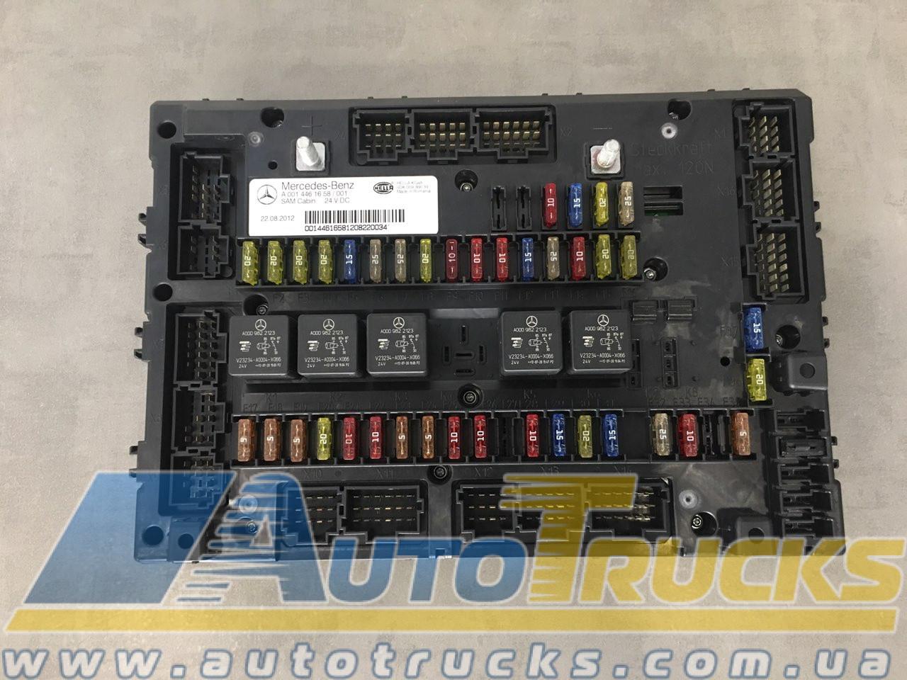 Панель предохранителей MB ACTROS MP4 Б/у для Mercedes-Benz Actros (0014461658; 0014461001)