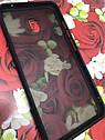 Чехол Xiaomi Redmi 8A противоударный бампер накладка цветная окантовка черный красные кнопки, фото 3