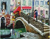 Алмазная живопись Мост, размер 50*40 см, забивка полная, стразы круглые