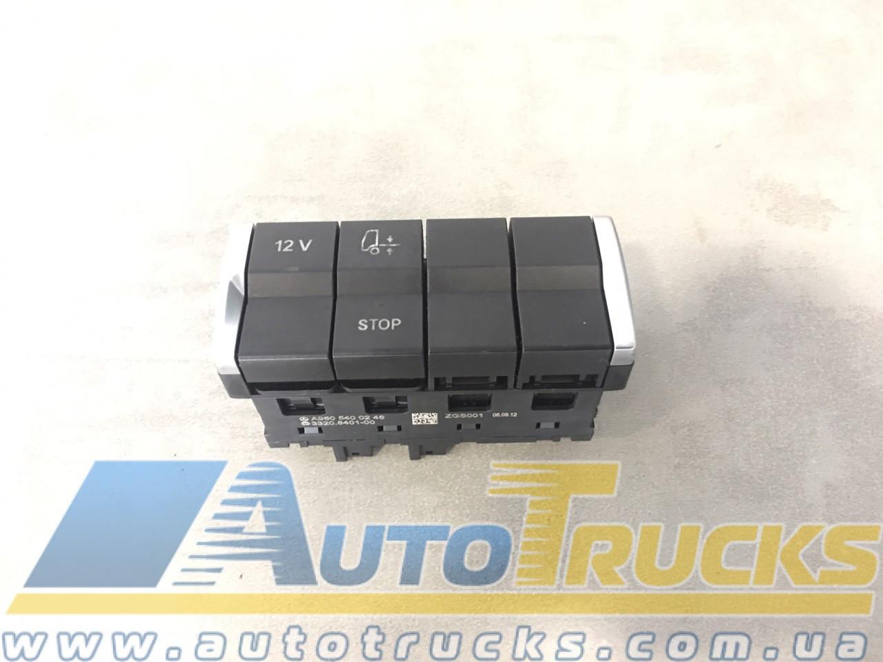 Блок кнопок MB ACTROS MP4 Б/у для Mercedes-Benz Actros (9605400246)