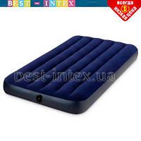 Полутороспальный надувной матрас Intex 64758 (1.37 x 1.91 x 25 см) Classic Downy Airbed