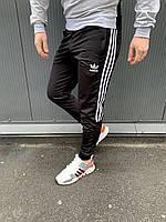 Мужские весенние спортивные штаны Adidas (Черные, синие, хаки, бордо)