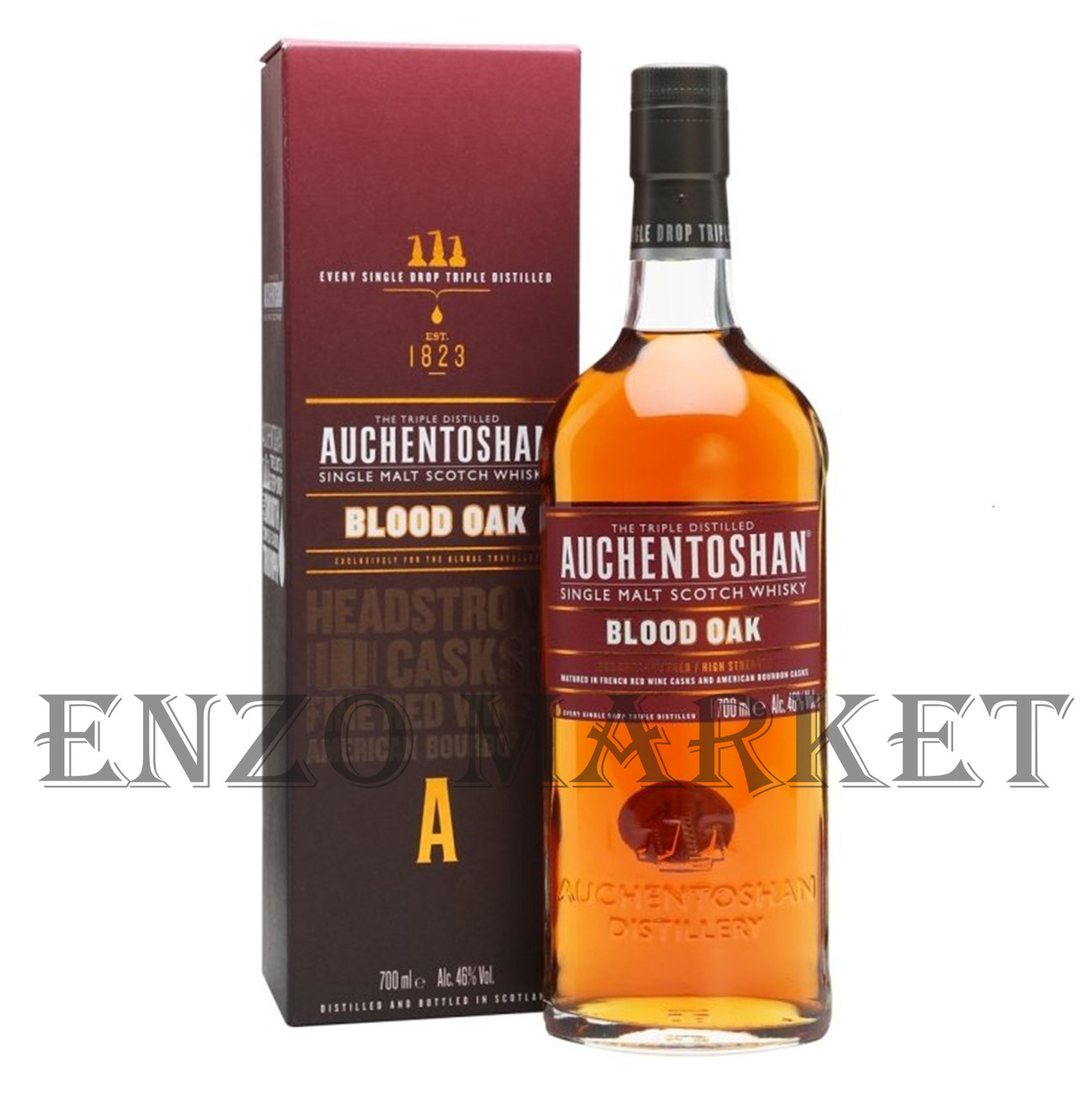 Виски Auchentoshan Blood Oak (Окентошен Блуд Оак) 46%, 0,7 литра