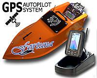 Карповый кораблик Фортуна с эхолотом Toslon TF-500 + GPS автопилот + GPS автопилот Оранжевый