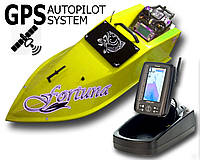Карповый кораблик Фортуна с эхолотом Toslon TF-500 + GPS автопилот + GPS автопилот Желтый