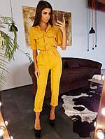 Комплект: Брюки и блузка в стиле 70-х с карманом спереди, фото 1