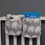 Детский карман - органайзер 17*19 тканевый на деткую кроватку подвесной для хранения игрушек и книг, фото 6