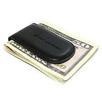 Зажим для денег кожаный на магните DNK Klip magnes-K Black