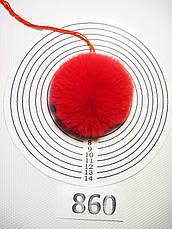 Меховой помпон Кролик РЕКС, Красный, 6/7 см, 860, фото 2