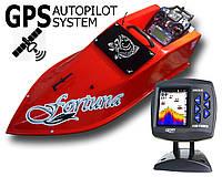Прикормочный кораблик Фортуна с эхолотом Lucky 918 и GPS-автопилот