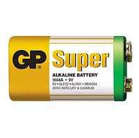 Батарейка крона GP Super Alkaline Battery 9V. Алкалиновая батарейка. Элемент питания крона 1604A 6LF22