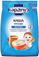 Каша молочная Карапуз гречневая с бифидобакт., минералами, витаминами и пребиотик., 250 г мягкая уп.