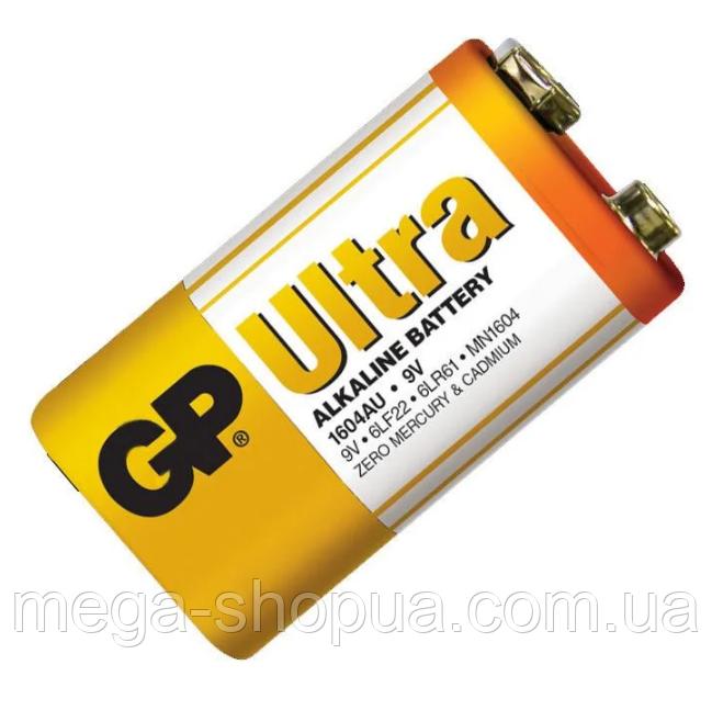 Батарейка крона GP Ultra Alkaline Battery 9V. Алкалиновая батарейка. Элемент питания крона 1604AU 6LR61