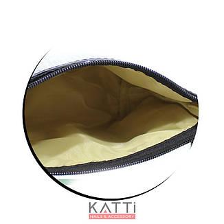 48114 косметичка клатч KATTi Glitter блестящая с меховым помпоном прямоугольная 23х14см золото, фото 2