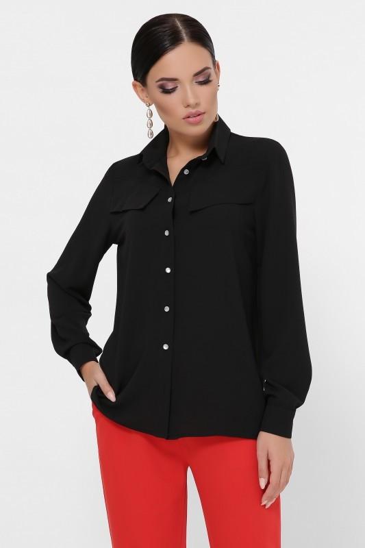 Блуза-рубашка Rimma черный (42-48)