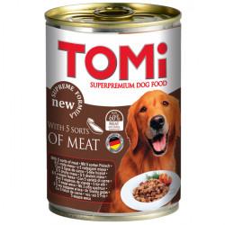 TOMi 5 kinds of meat 5 ВИДОВ МЯСА консервы для собак, влажный корм, 1,2кг